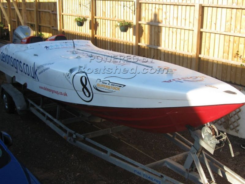 Cougar Honda 225 Race Boat Offshore Powerboat For Sale, 8 23