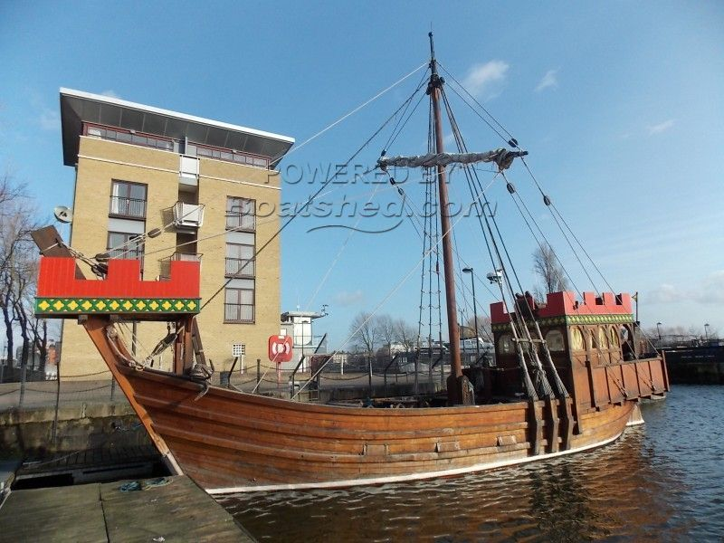 Replica 13th Century  Sailing Ship With 115 Bhp Engine