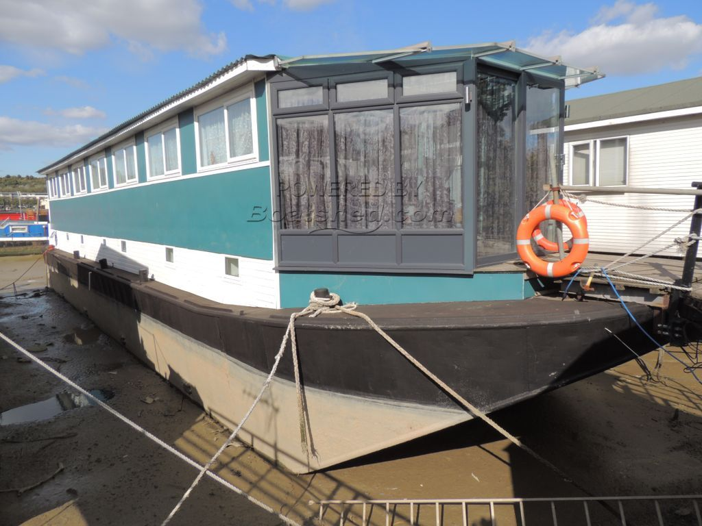 Houseboat Thames Lighter Barge Good In Water Survey! Mooring Available
