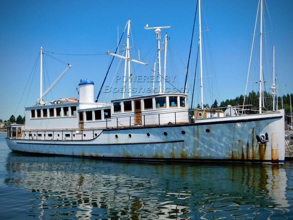 Wilmington Boat Works 96 Ft. Custom Motor Yacht Nationally Registered Historic Vessel