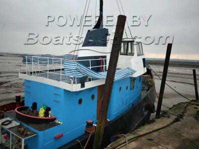 Steel House Boat Tug