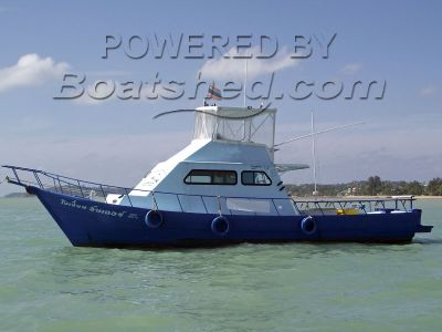 Wooden  Commercial 12.7m Game Fishing Boat