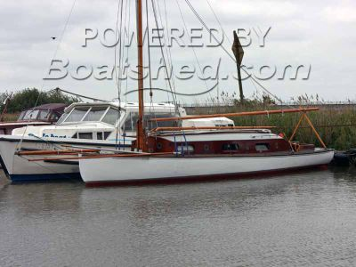Broads traditional sailing yacht