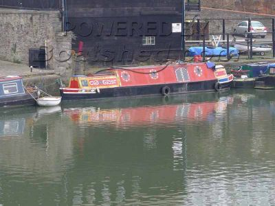 Narrowboat 50ft Butty with pusher tug