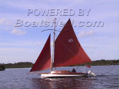 Broads traditional sailing yacht Breydon Cutter