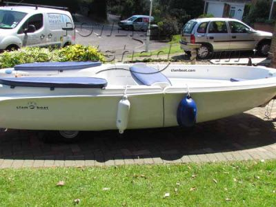 Clamboat MK11 Folding boat with inbuilt trailer