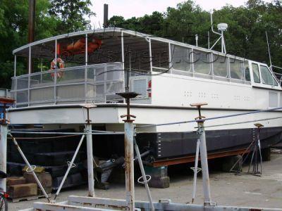 Custom Aircat Power Catamaran Commercial Passenger Ferry 50ft