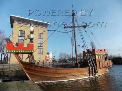 Replica 13th Century  Sailing Ship with 115 bhp engine