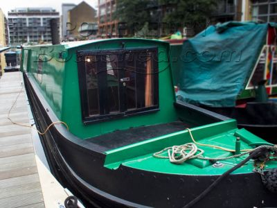 Narrowboat 57ft Trad Stern 57' semi trad with large metal hatch
