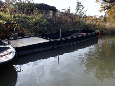 Steel Work Boat Flat Bottomed Dredging Barge