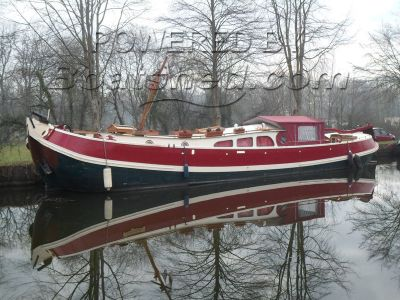 Dutch Barge Tjalk Tranquil south Brittany mooring or transport to UK or