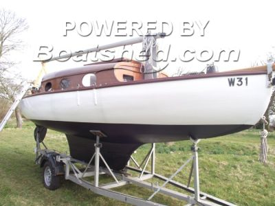 Classic Wooden Broads Sailing Yacht