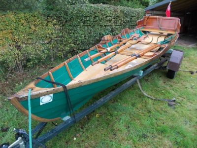Classic Double Rowing Skiff