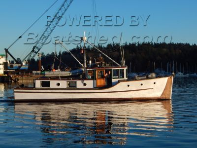 Classic B.C. Forest Service Vessel 40' Bridgedeck Cruiser