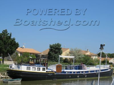 Luxemotor Dutch  Barge huge terrace deck. TRIVW available