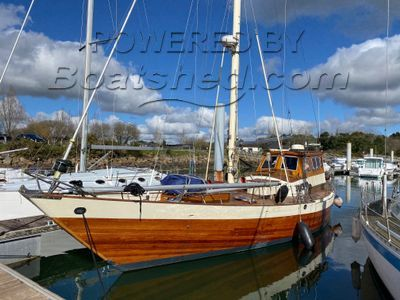 Wooden  Custom Wood-epoxy classic cruising sailboat