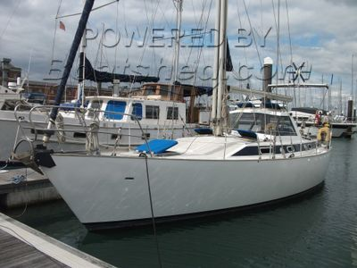 Steel Blue Water Cruising Yacht Lifting Winged Keel Jimmy Cornell & Bill Dixon design