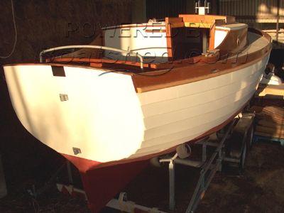 Gaff rigged sailing boat