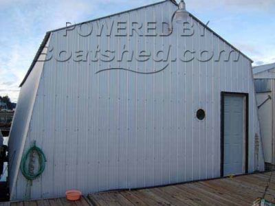 Wooden  Floating Boat House 38'