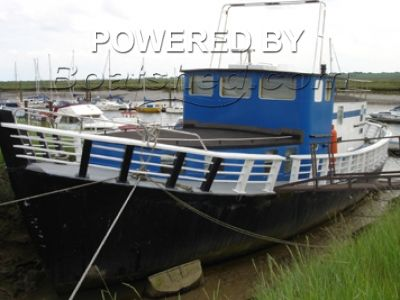 Wooden  Houseboat, converted passenger ferry