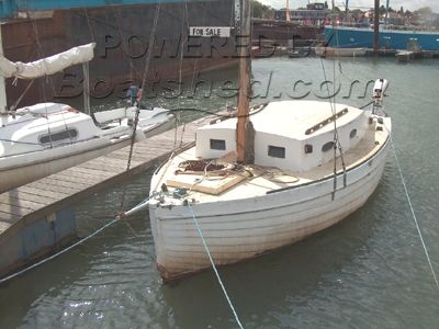 Wooden clinker boat