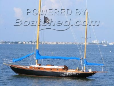 Wooden  Yawl Stay Sail
