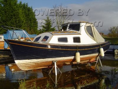 Yorkshire coble style clinker motor boat