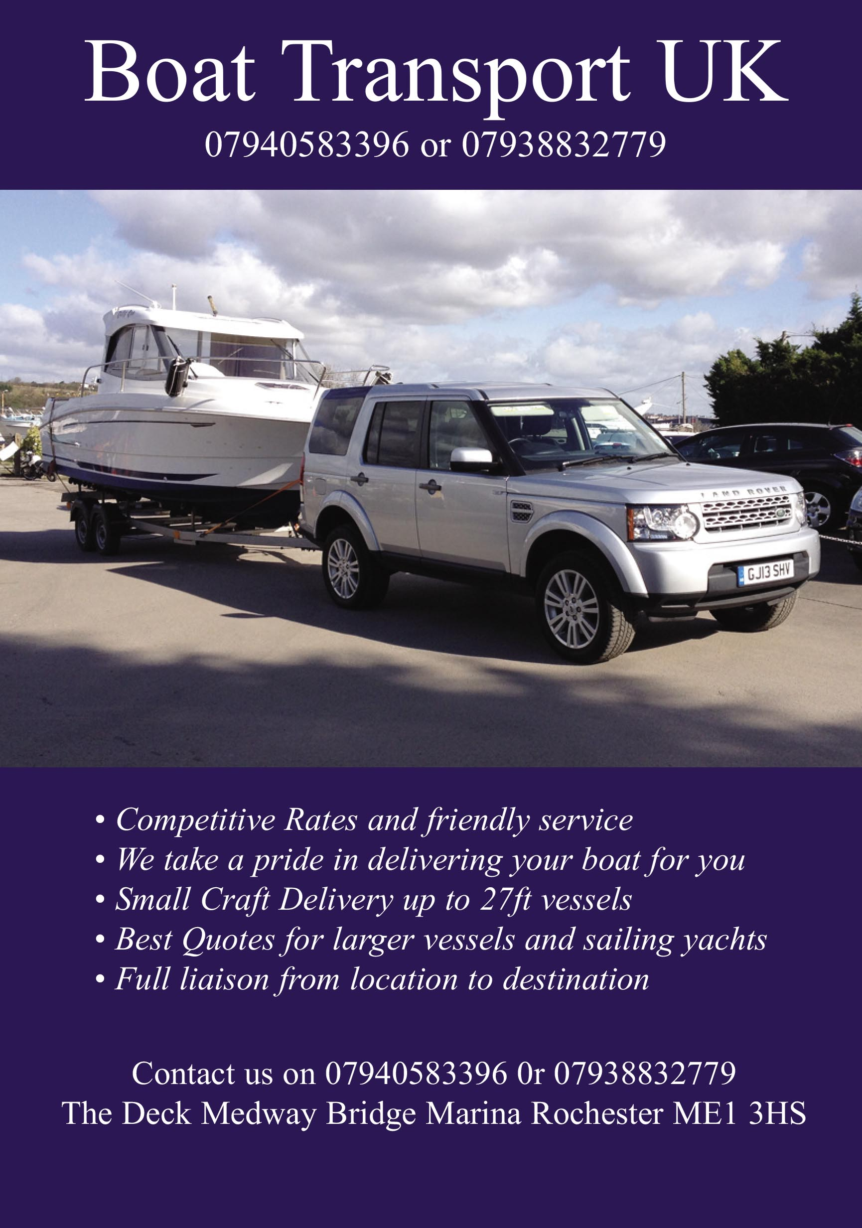 Boat Transport UK