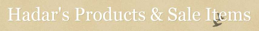Hadar's Products & Sale Items