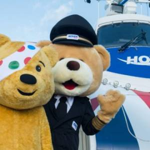 Children In Need's Pudsey visits Hovertravel