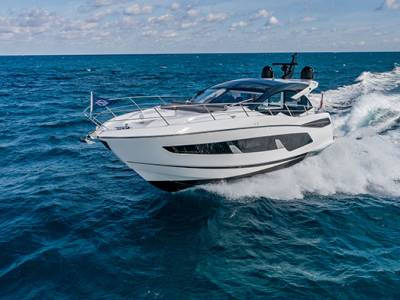 Sunseeker line up for the British Motor Yacht Show