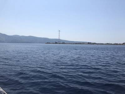 Transiting the Straits of Messina.