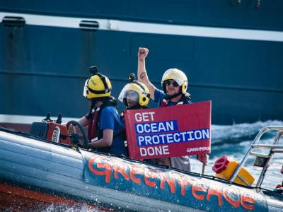 Simon Pegg aides Greenpeace in fishing protests