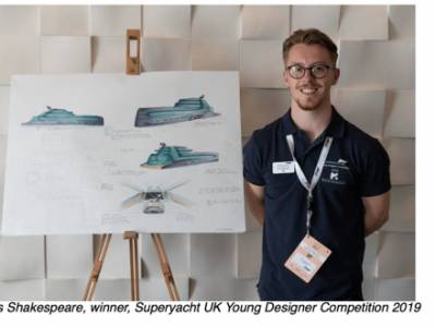 Young designer James Shakespeare wins one of a kind superyacht design competition