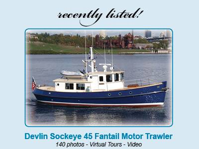 Recently Listed Devlin Sockeye 45 Fantail Motor Trawler -