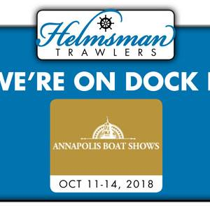 Helmsman at US Powerboat Show – Annapolis