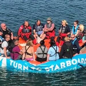 Charity crew complete life raft challenge