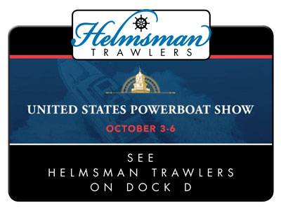 Helmsman Trawlers at Annapolis Powerboat Show