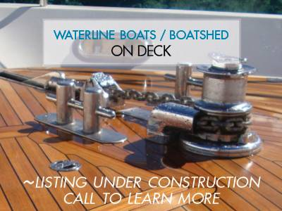 Chris-Craft 32 Commander and Lyman 30 - On Deck at Waterline Boats / Boatshed Seattle