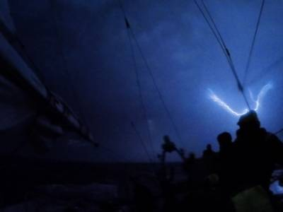 VIDEO: METEOROLOGICAL PHENOMENON AND LIGHTNING STORM CAPTURED AS CLIPPER 2019-20 RACE APPROACHED PUNTA DEL ESTE, URUGUAY