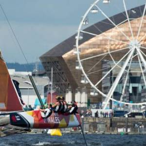 Welsh wildcard team breathes new fire into Extreme Sailing Series™ Cardiff competition