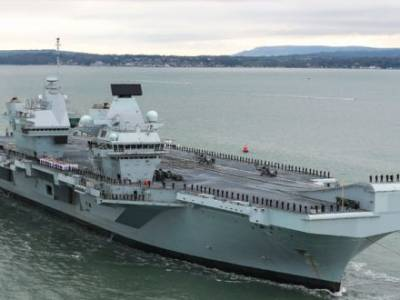 COMMISSIONING DAY FOR HMS PRINCE OF WALES