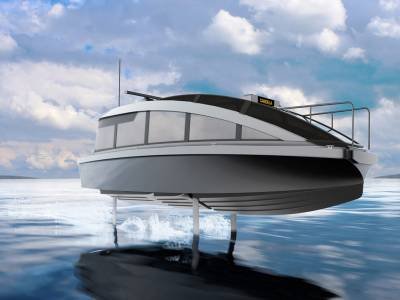 World's first foiling water taxi launches