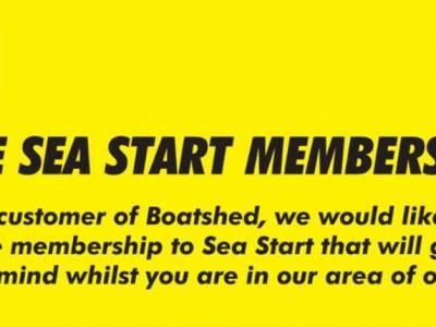 FREE Sea Start Membership for Boatshed Buyers!
