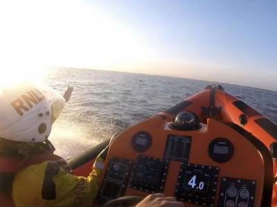 WATCH: RNLI rescue jet skier drifting out to sea