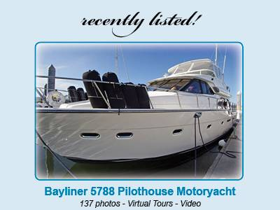 Recently Listed - Bayliner 5788 Pilothouse Motoryacht --