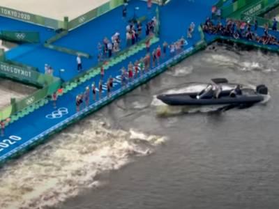 WATCH: RIB narrowly misses competitors in Olympic triathlon