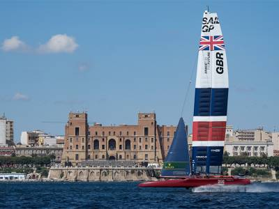Paul Goodison takes flight in Great Britain SailGP F50 ahead of Italy Sail Grand Prix