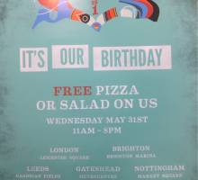 FREE PIZZA FOR EVERYONE AT BRIGHTON MARINA