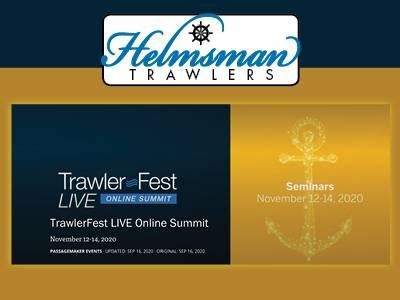 TrawlerFest LIVE Online Summit 2020 - Helmsman Trawlers Proud Sponsor & Exhibitor
